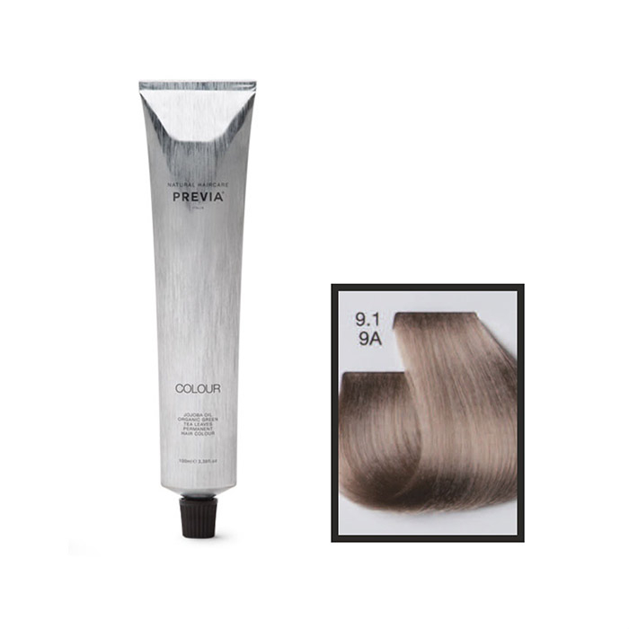 Vopsea permanenta Previa Vibrant Shiny Colour 9.1 9A Very Light Ash Blonde 100 ml [0]