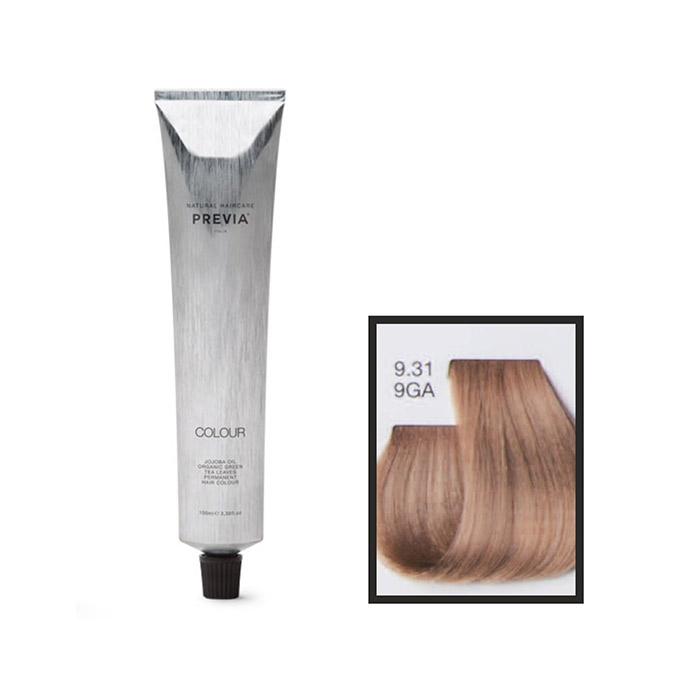 Vopsea permanenta Previa Vibrant Shiny Colour 9.31 9GA Light Golden Ash Blonde 100 ml [0]