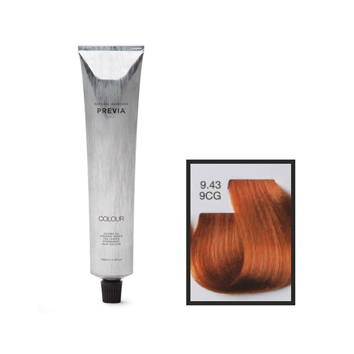 Vopsea permanenta Previa Vibrant Shiny Colour 9.43 9CG Very Light Golden Copper Blonde 100 ml 0