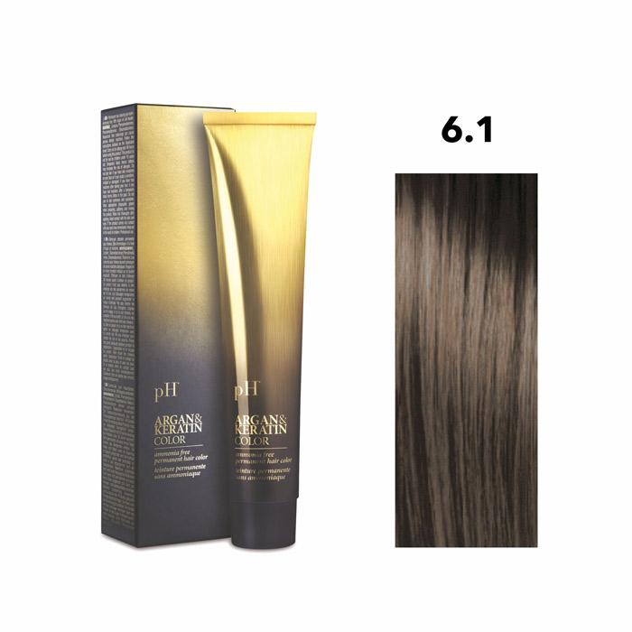 Vopsea pH Laboratories Argan & Keratin Ash Dark Blonde 6.1  100 ml [0]