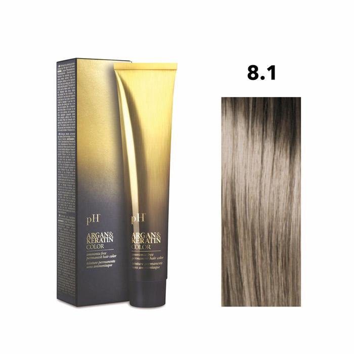 Vopsea pH Laboratories Argan & Keratin Ash Light Blonde 8.1  100 ml [0]