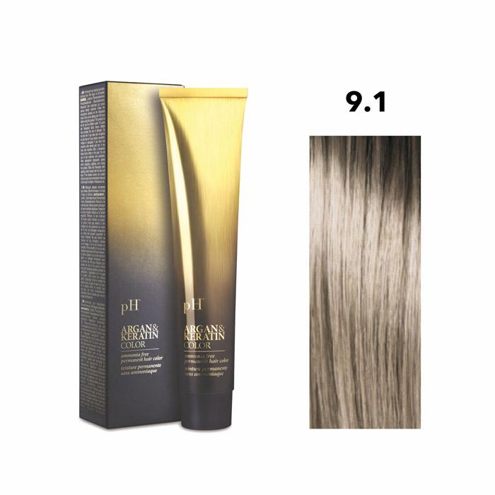 Vopsea pH Laboratories Argan & Keratin Ash Very Light Blonde 9.1  100 ml [0]