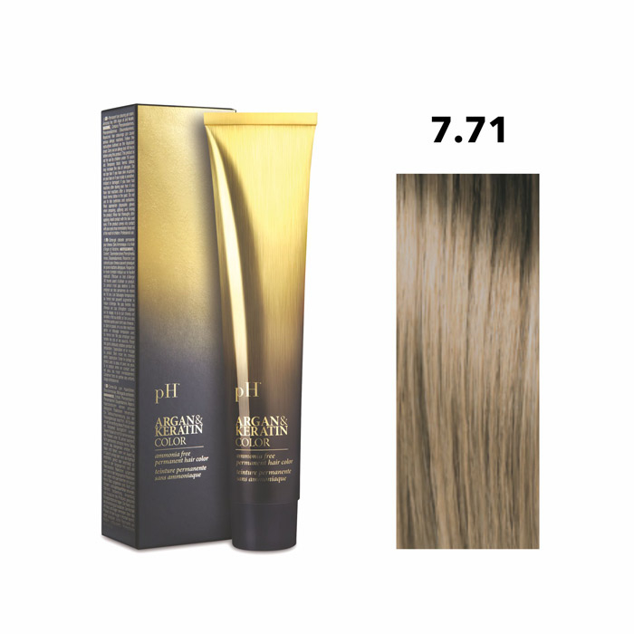 Vopsea pH Laboratories Argan & Keratin Cold Beige Blonde 7.71  100 ml [0]