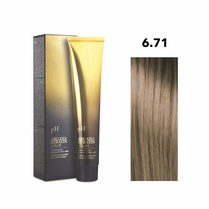 Vopsea pH Laboratories Argan & Keratin Cold Beige Dark Blonde 6.71  100 ml [0]