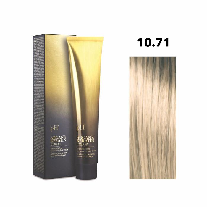 Vopsea pH Laboratories Argan & Keratin Cold Beige Platinum Blonde 10.71  100 ml [0]