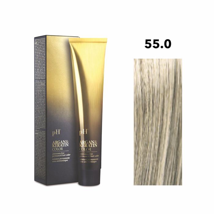 Vopsea pH Laboratories Argan & Keratin Cold Natural Light Chestnut 55.0  100 ml [0]