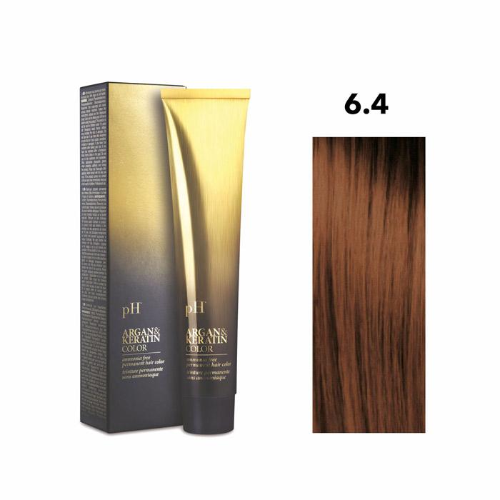 Vopsea pH Laboratories Argan & Keratin Copper Dark Blonde 6.4  100 ml [0]