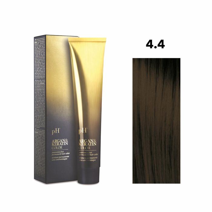 Vopsea pH Laboratories Argan & Keratin Copper Medium Chestnut 4.4  100 ml [0]