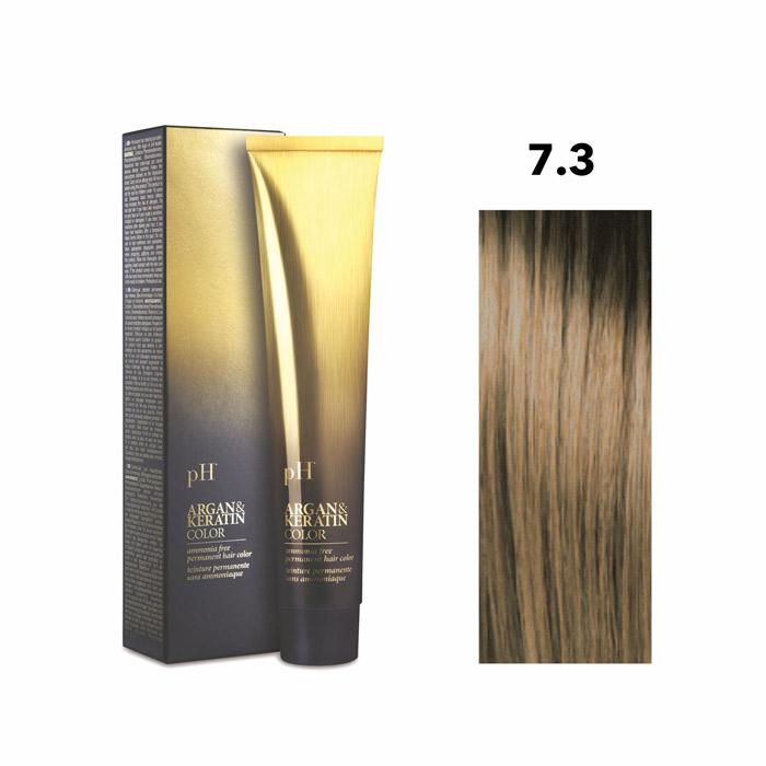 Vopsea pH Laboratories Argan & Keratin Golden Blonde 7.3  100 ml [0]
