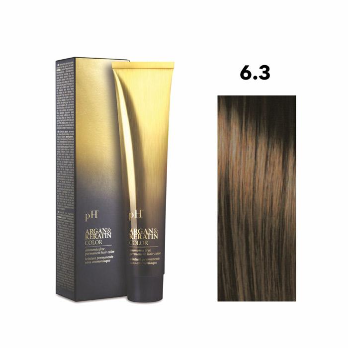 Vopsea pH Laboratories Argan & Keratin Golden Dark Blonde 6.3  100 ml [0]