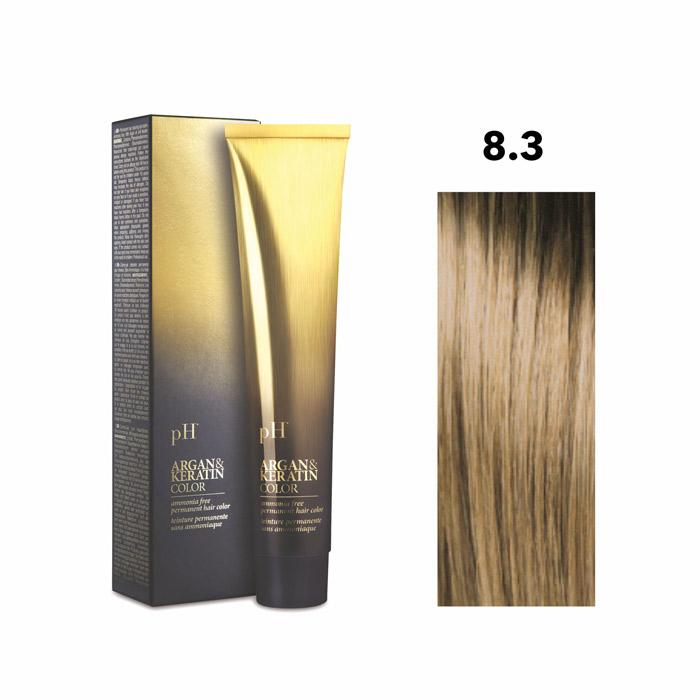 Vopsea pH Laboratories Argan & Keratin Golden Light Blonde 8.3  100 ml [0]