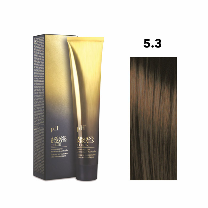 Vopsea pH Laboratories Argan & Keratin Golden Light Chestnut 5.3  100 ml [0]