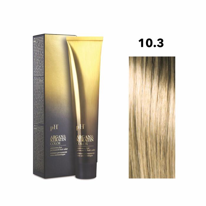 Vopsea pH Laboratories Argan & Keratin Golden Platinum Blonde 10.3  100 ml [0]