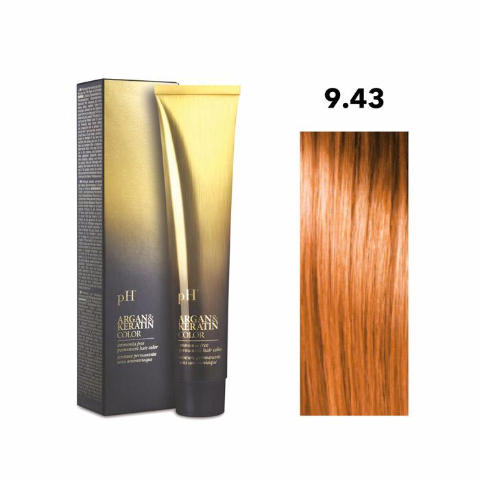 Vopsea pH Laboratories Argan & Keratin Golden Very Light Copper Blonde 9.43  100 ml [0]