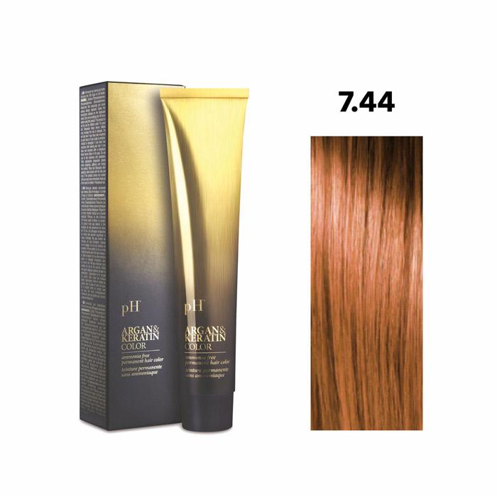 Vopsea pH Laboratories Argan & Keratin Intense Copper Blonde 7.44  100 ml [0]