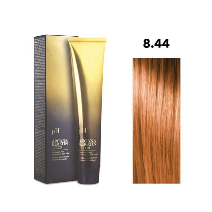 Vopsea pH Laboratories Argan & Keratin Intense Copper Light Blonde 8.44  100 ml [0]