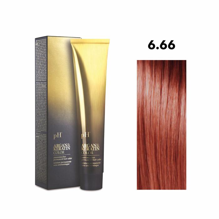 Vopsea pH Laboratories Argan & Keratin Intense Red Dark Blonde 6.66  100 ml [0]