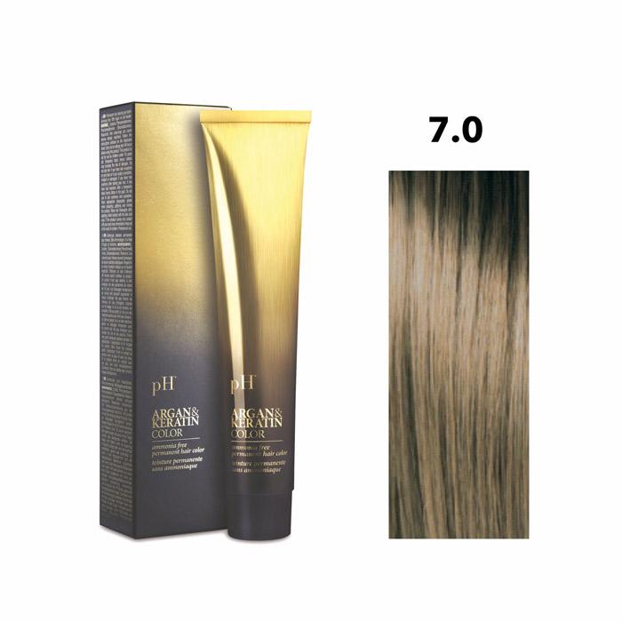Vopsea pH Laboratories Argan & Keratin Natural Blonde 7.0 100 ml [0]