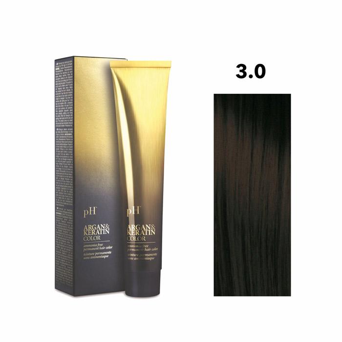 Vopsea pH Laboratories Argan & Keratin Natural Dark Chestnut 3.0 100 ml [0]