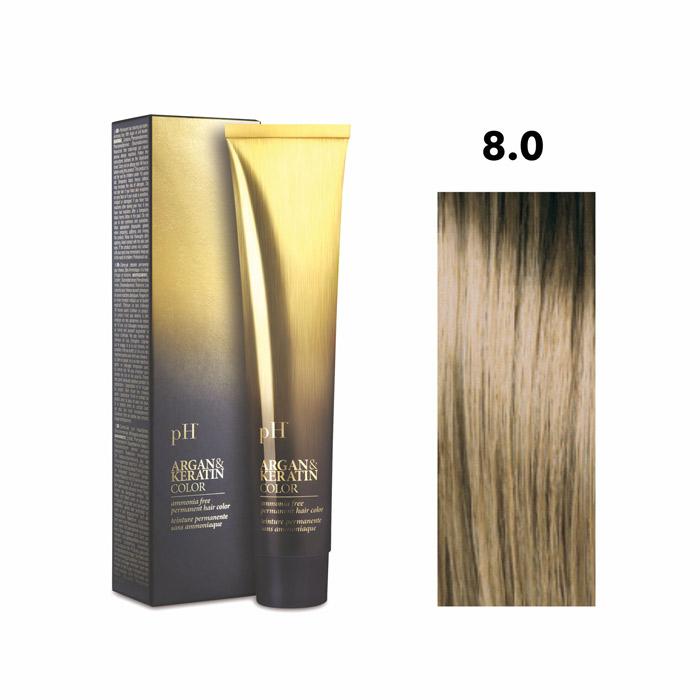 Vopsea pH Laboratories Argan & Keratin Natural Light Blonde 8.0 100 ml [0]