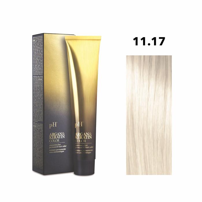 Vopsea pH Laboratories Argan & Keratin Super Lighteners Platinum Ash Blonde 11.1 100 ml [0]
