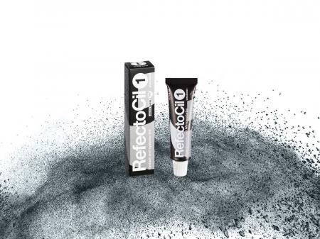 RefectoCil Pure Black Nr. 1 vopsea gene sprancene negru 15 ml [1]