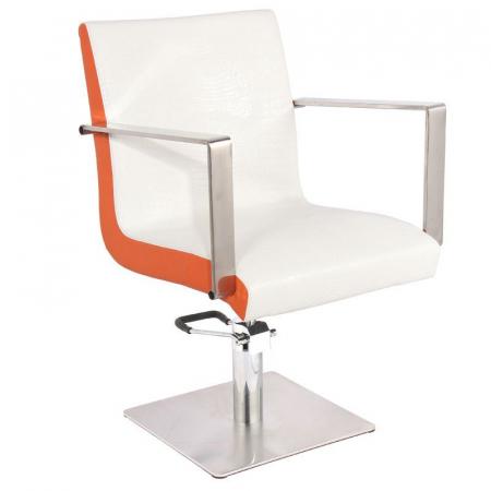 Scaun coafor Roma White-Orange [0]