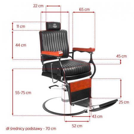 Scaun frizerie Black Master [3]