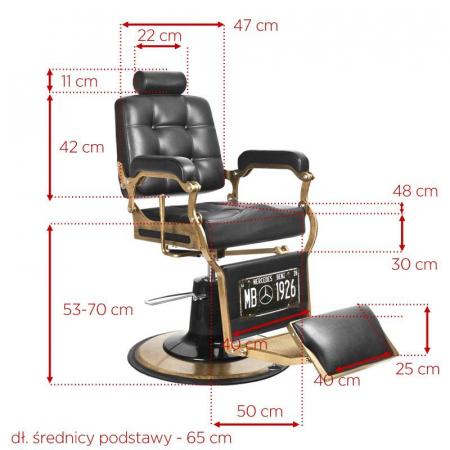 Scaun frizerie Boss Black [3]