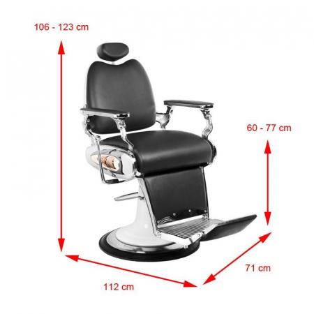 Scaun frizerie Moto Style Black [4]
