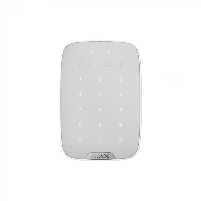 Tastatura wireless Ajax Keypad Plus culoare Alb [0]