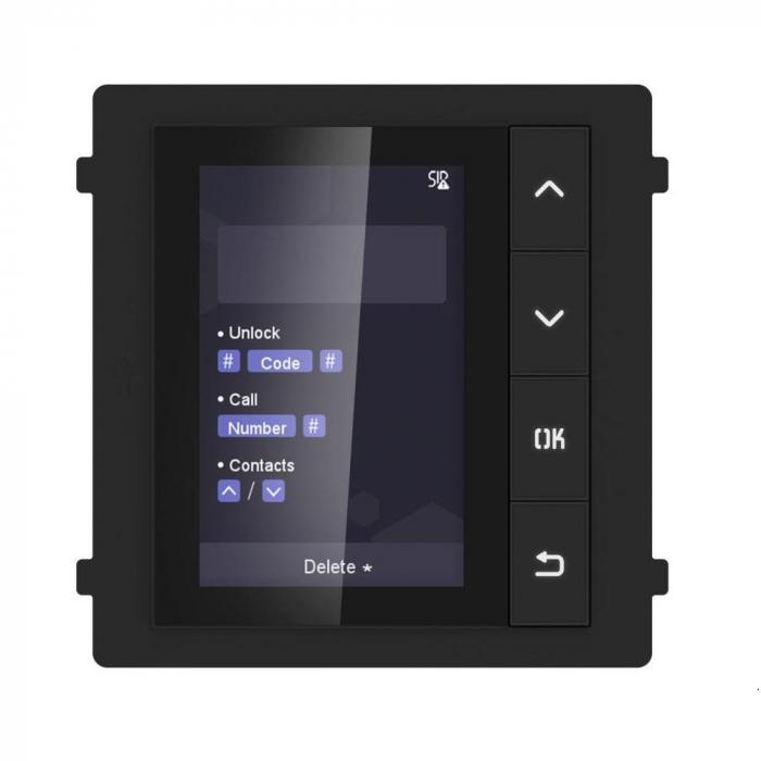 Modul de afisare pentru videointerfon modular DS-KD-DIS Hikvision [0]