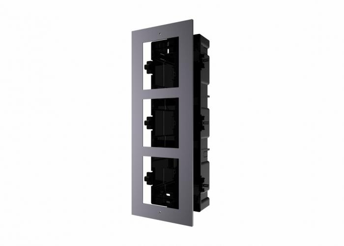 Panou frontal pentru 3 module videointerfon modular DS-KD-ACF3  Hikvision [0]