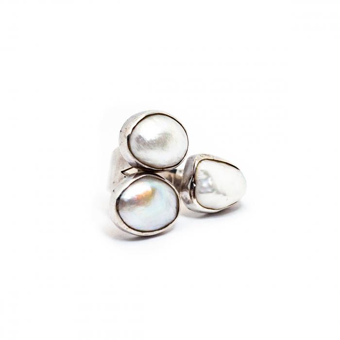Inel din Argint cu Perla de Cultura [0]