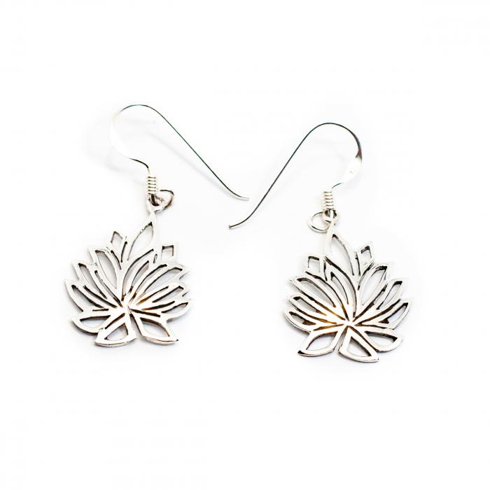 Cercei din Argint Floare de Lotus [0]