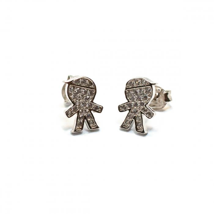 Cercei din Argint Baietel cu Zirconiu [0]