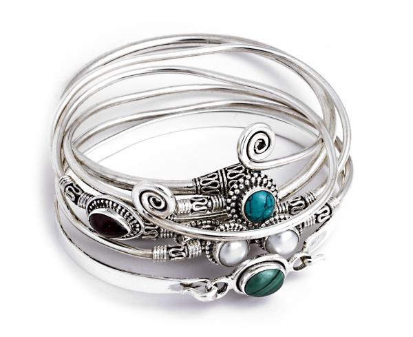 Brățară din Argint cu Perle de Cultură Flexibilă 1