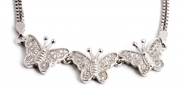 Brățară din Argint  Fluturi cu Zirconiu 1