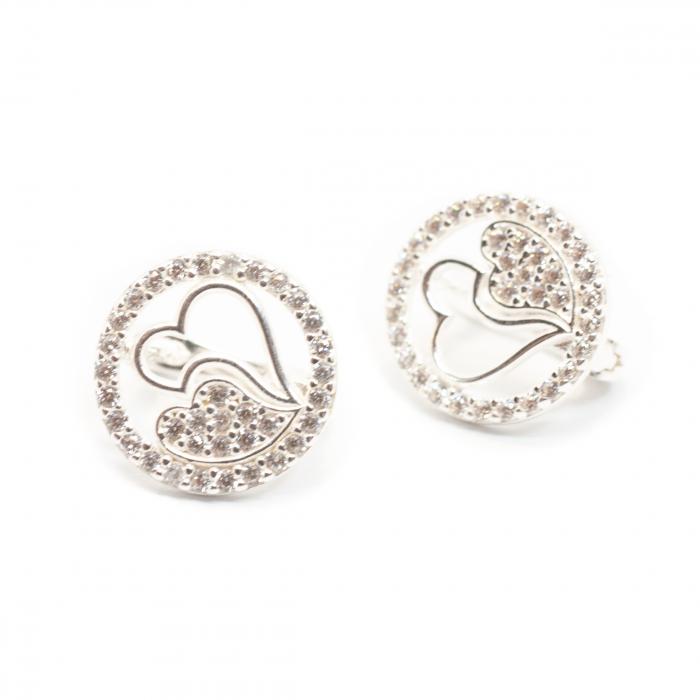 Cercei din Argint cu Inimioare [1]
