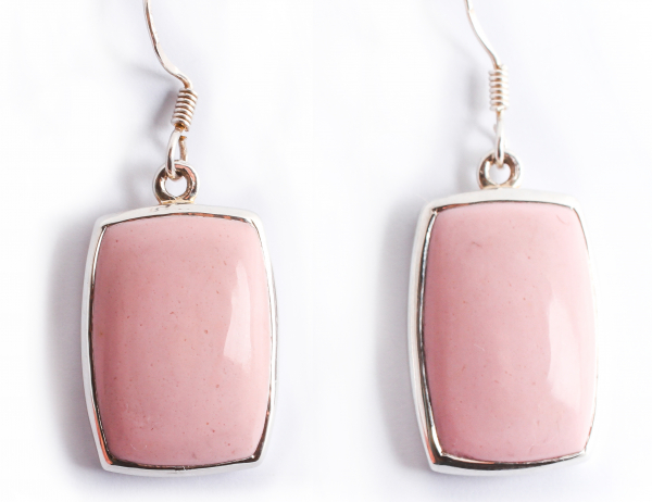 Cercei din Argint cu  Piatră Roz 0
