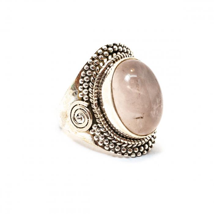 Inel din Argint cu Cuart Roz [0]