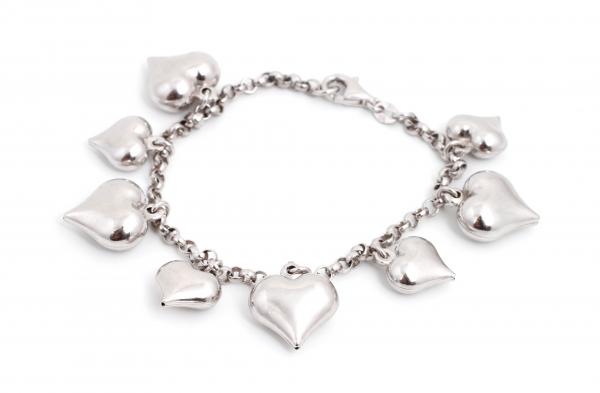 Brățara Inimioare Argint