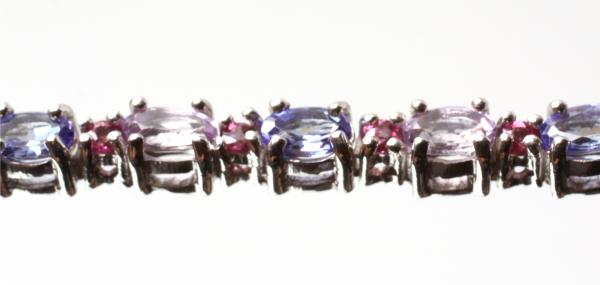 Brățară din Argint cu  Iolit, Rubin si Ametist 1