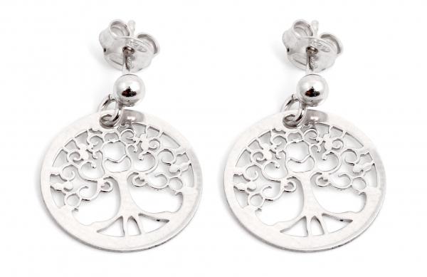 Cercei din Argint Copacul Vieţii 1