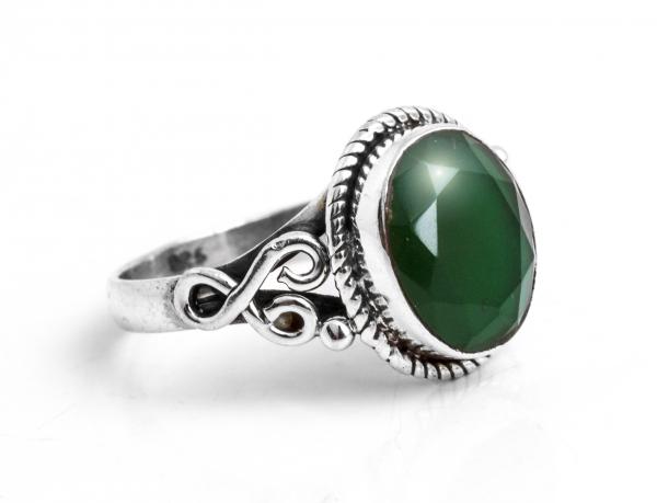 Inel Agat Verde Fațetat 0