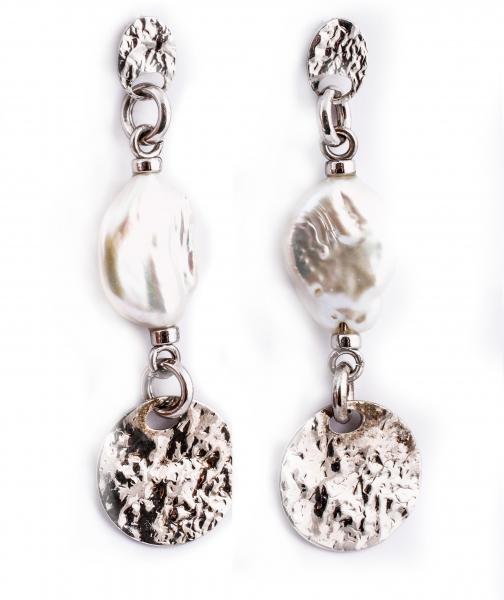 Cercei din Argint cu Perle de Cultură 0