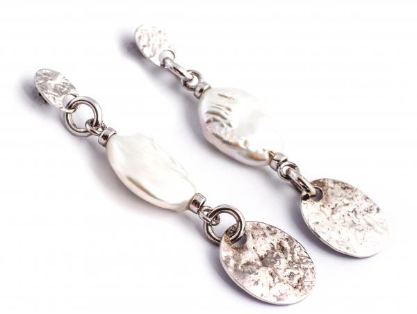 Cercei din Argint cu Perle de Cultură 1