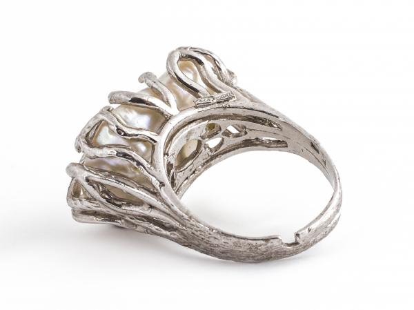 Inel din Argint cu Perlă de Cultură 1