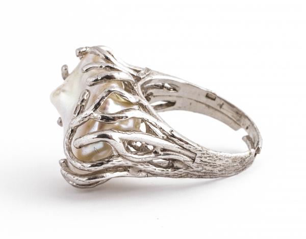 Inel din Argint cu Perlă de Cultură 2
