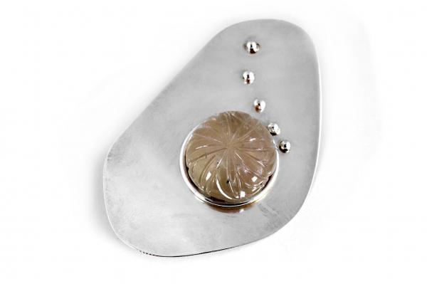 Brosa din Argint Creatie cu Ametrin 0